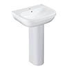 Grohe Euro Ceramic 550mm 1TH Basin + Full Pedestal profile small image view 1