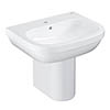 Grohe Euro Ceramic 600mm 1TH Basin + Half Pedestal profile small image view 1