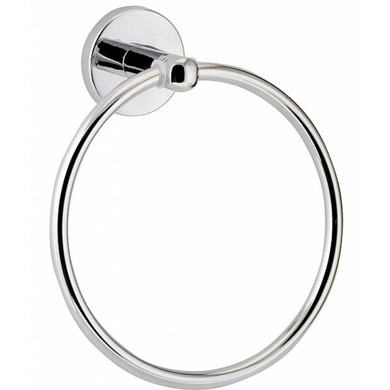 Euroshowers Luxury Towel Ring - Chrome - 19420 Large Image