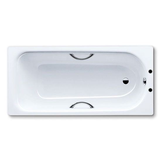 Kaldewei Eurowa 1500 x 700mm Steel Enamel Bath with Twin Grip Handles (2TH) profile large image view 1