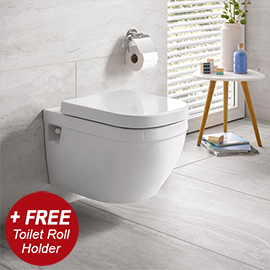 Grohe Euro Rimless Wall Hung Toilet + Standard Seat + FREE GIFT PROMOTION