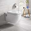 Grohe Euro Rimless Wall Hung Toilet + Standard Seat profile small image view 1