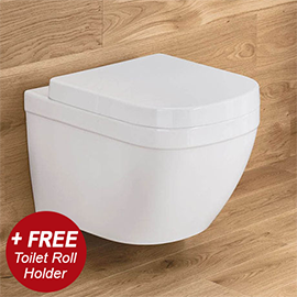 Grohe Euro Rimless Wall Hung Toilet with Soft Close Seat + FREE TOILET ROLL HOLDER