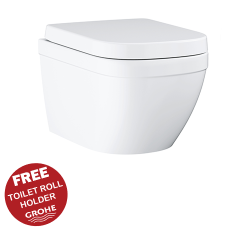 Grohe Euro Rimless Wall Hung Toilet with Soft Close Seat