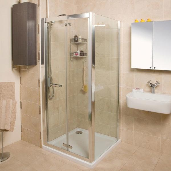 Roman - Embrace Bi-Fold Shower Door - Various Size Options Profile Large Image