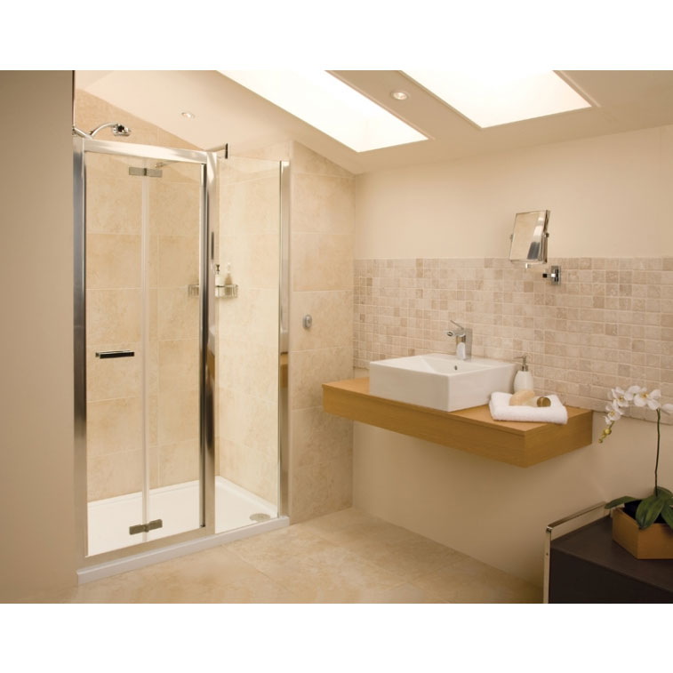 Roman - Embrace Bi-Fold Shower Door - Various Size Options profile large image view 3