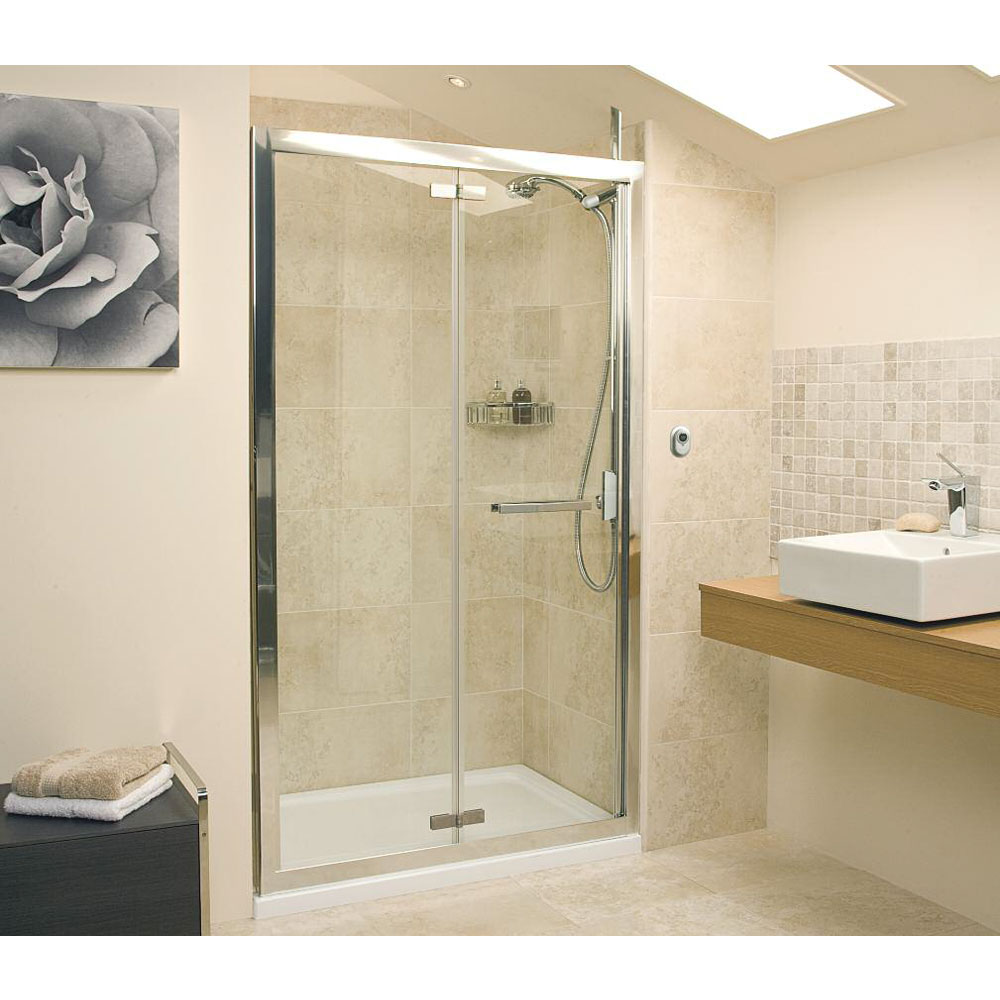Roman - Embrace Bi-Fold Shower Door - Various Size Options Large Image