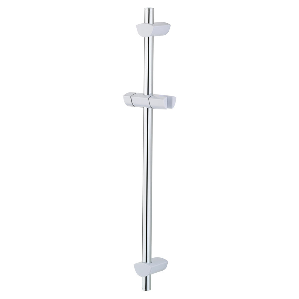 Bristan - EVO Riser Rail with Adjustable Fixing Brackets - White/Chrome - EVC-ADR01-WC