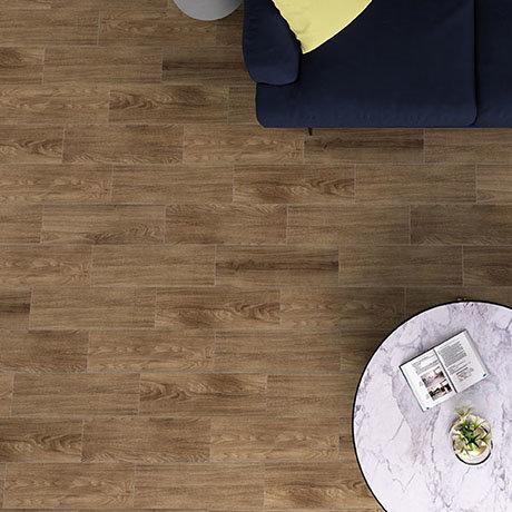Everley Cherry Wood Effect Tiles - 200 x 600mm