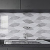 Evora Grey Decor Marble Effect Wall Tiles - 300 x 600mm Small Image