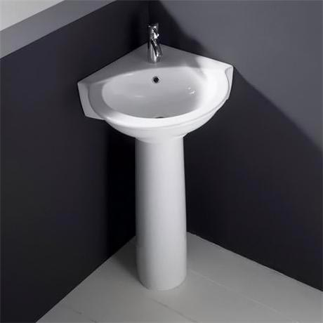 RAK Evolution Corner Basin & Pedestal