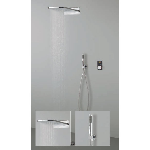 Crosswater Digital Evo Elite 2 Outlet Fixed Showerhead and Shower Handset profile large image view 1