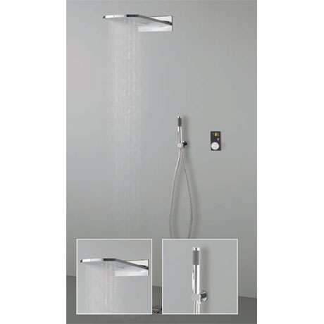 Crosswater Digital Evo Elite 2 Outlet Fixed Showerhead and Shower Handset