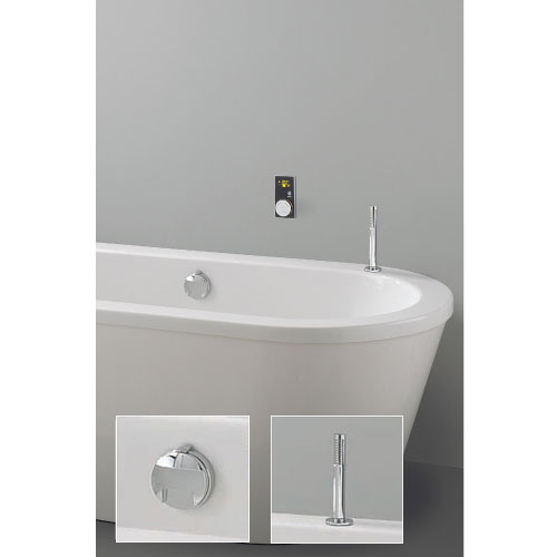 Crosswater Digital Evoque Elite Bath Filler Waste & Pull Out Hand Shower Large Image