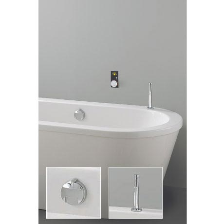 Crosswater Digital Evoque Elite Bath Filler Waste & Pull Out Hand Shower
