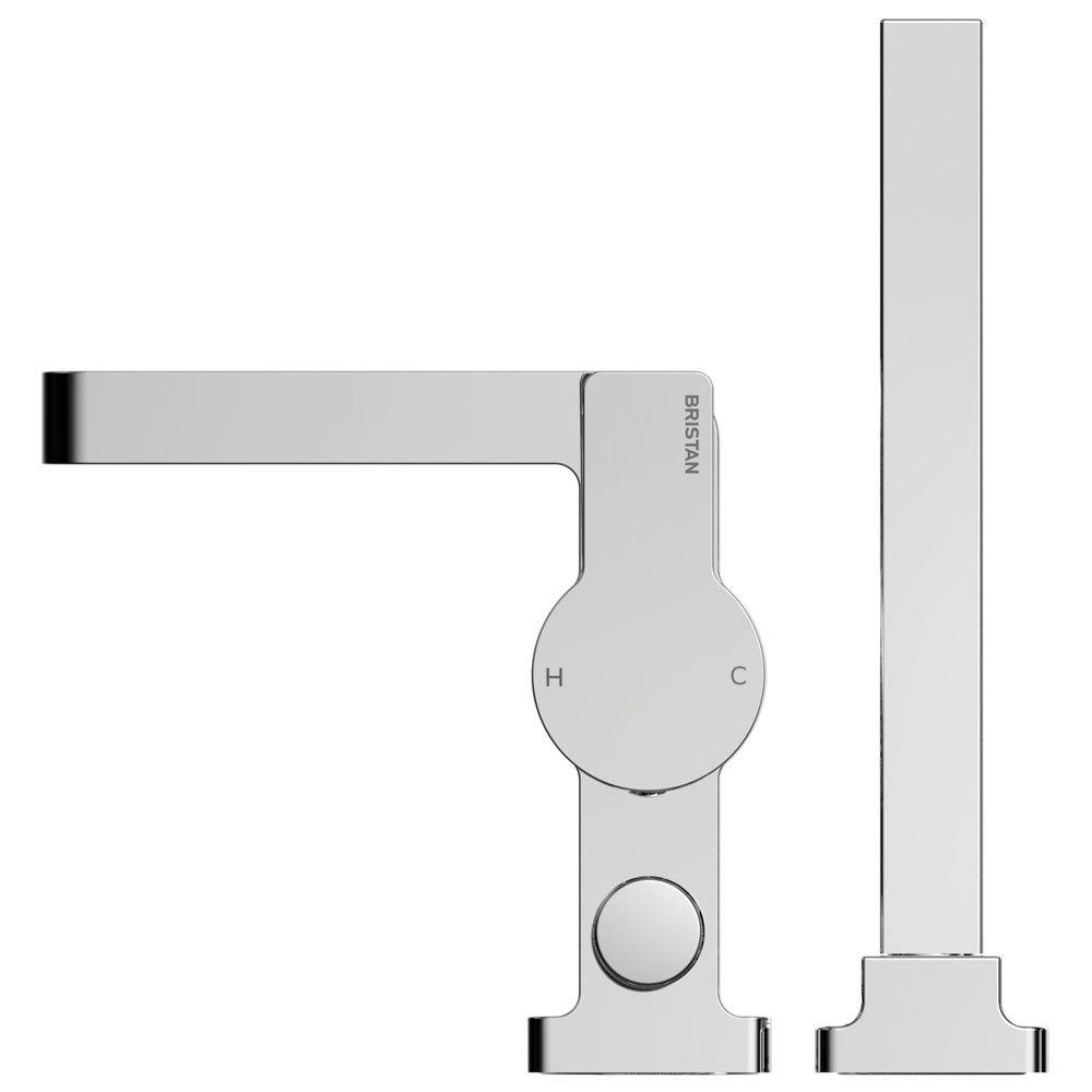 Bristan Exodus 2 Hole Bath Shower Mixer with Kit Profile Large Image