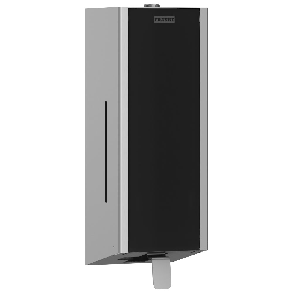 Franke Exos EXOS618B Wall Mounted Soap Dispenser with Black Front Panel