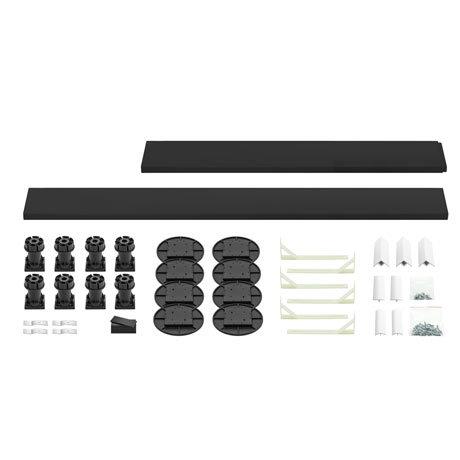 Leg + Panel Riser Kit for Black Slate Square + Rectangular Trays (over 1200mm)