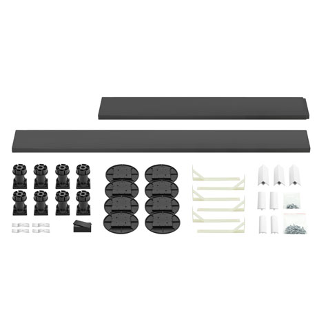 Leg + Panel Riser Kit for Graphite Slate Square + Rectangular Trays (over 1200mm)
