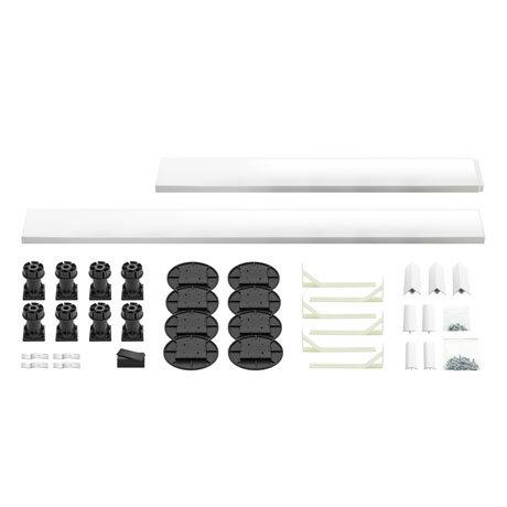 Leg + Panel Riser Kit for White Slate Square + Rectangular Trays (over 1200mm)