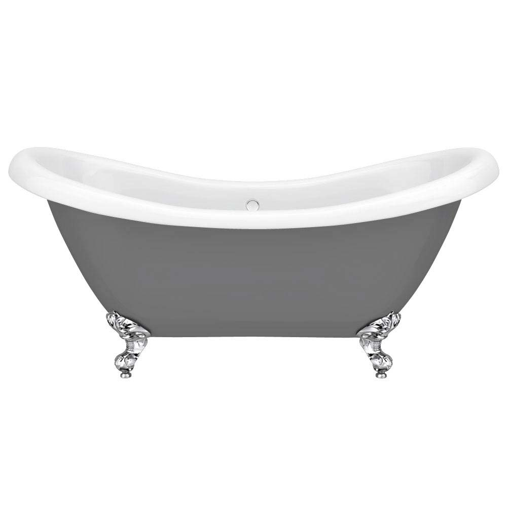 Earl Grey 1750 Double Ended Roll Top Slipper Bath w. Ball + Claw Leg Set profile large image view 2