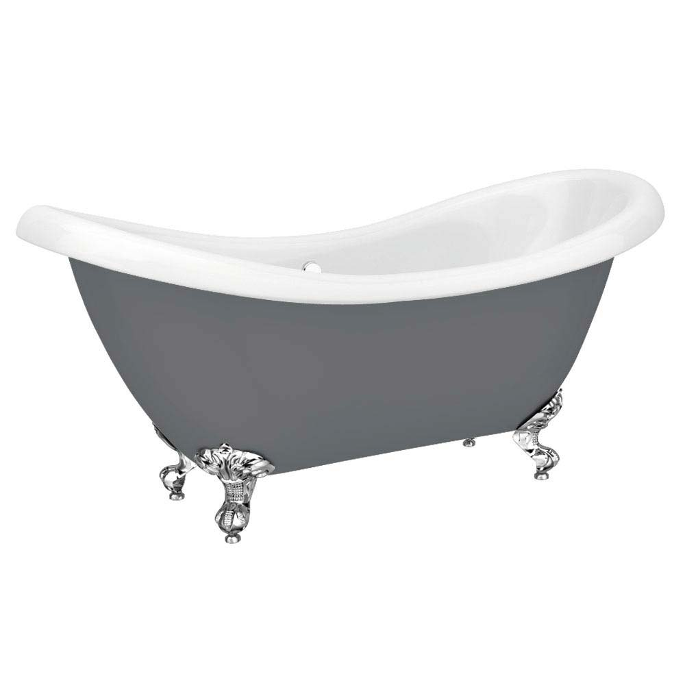 Earl Grey 1750 Double Ended Roll Top Slipper Bath w. Ball + Claw Leg Set Large Image