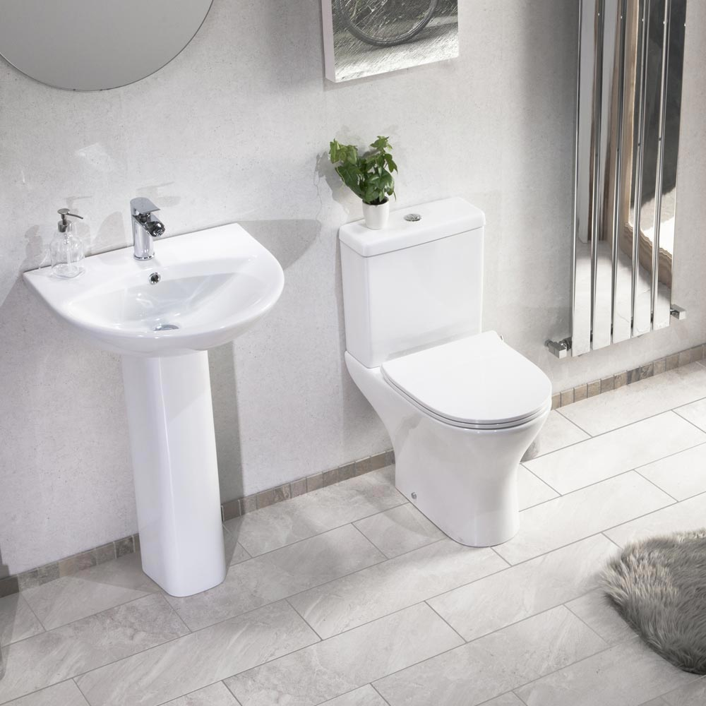 Eclipse Basin + Full Pedestal (555mm Wide - 1 Tap Hole)  Feature Large Image