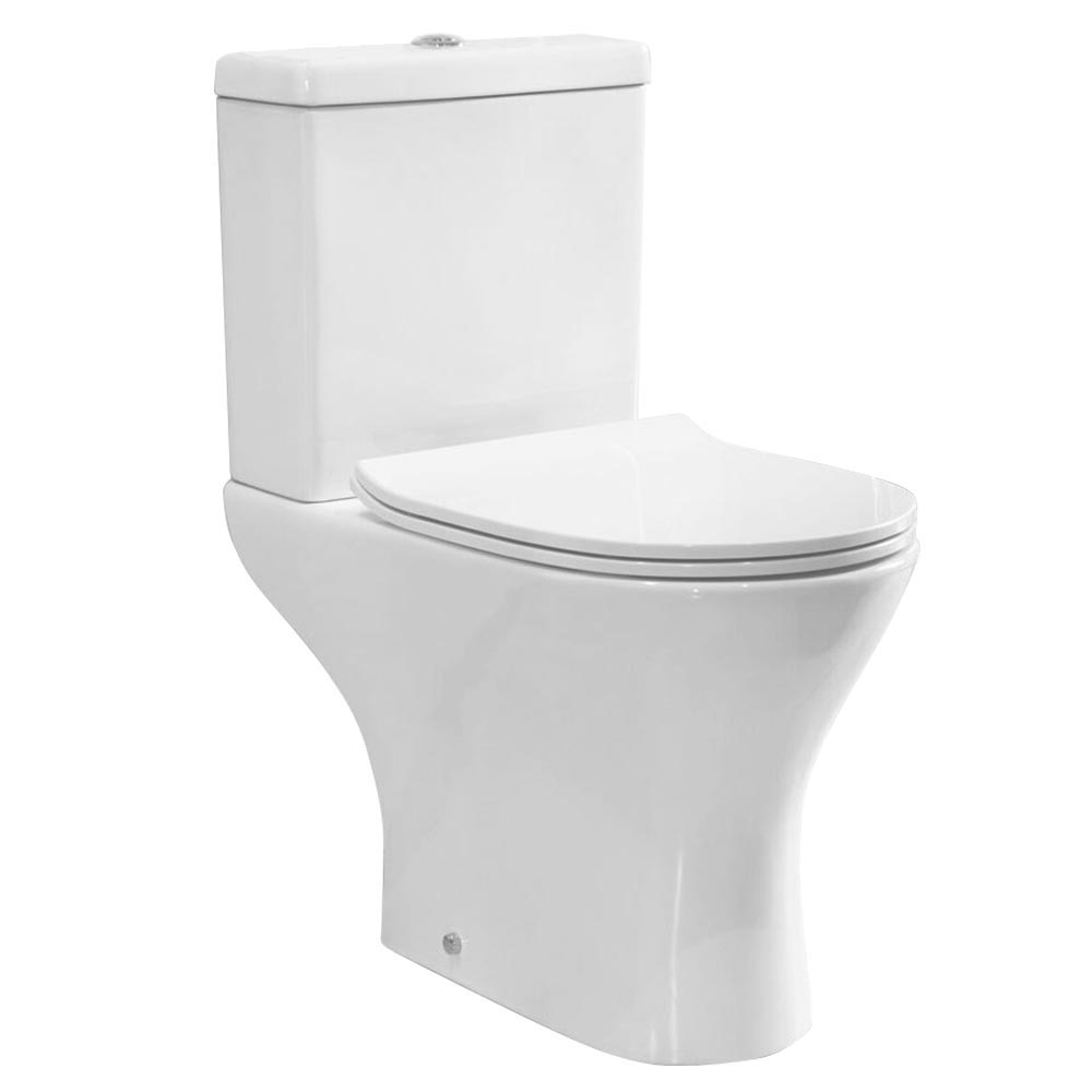 Eclipse Modern Short Projection Toilet + Soft Close Seat Large Image
