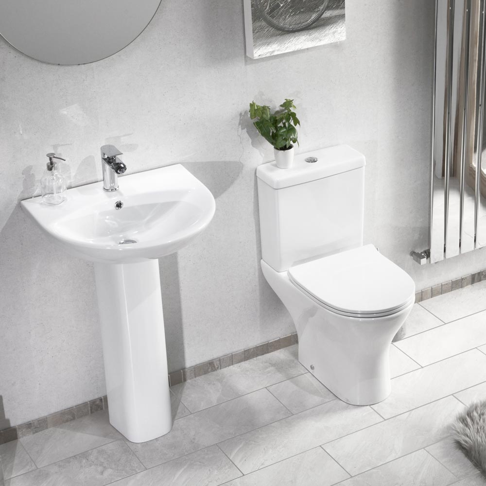 Eclipse Modern Short Projection Toilet + Soft Close Seat profile large image view 2