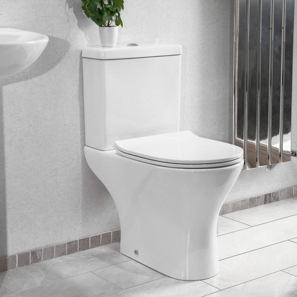 Eclipse Modern Short Projection Toilet + Soft Close Seat profile large image view 3