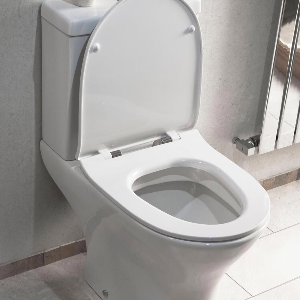 Eclipse Modern Short Projection Toilet + Soft Close Seat profile large image view 4