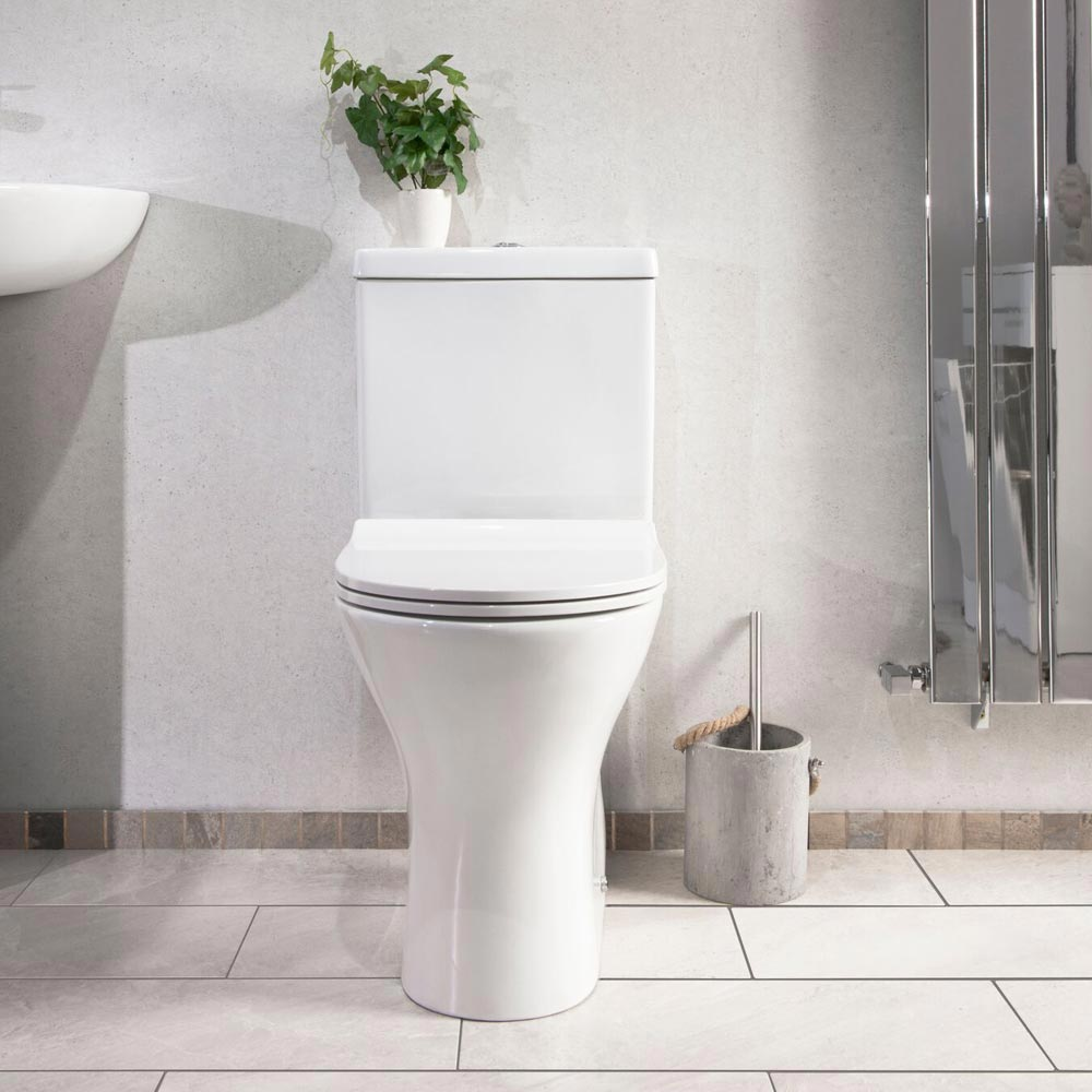 Eclipse Modern Short Projection Toilet + Soft Close Seat profile large image view 6