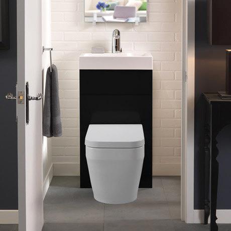 Eco Bathrooms 500 Gloss Black Washbasin Amp Wc Victorian