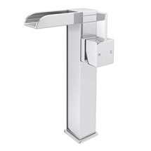Edge Waterfall High Rise Mono Basin Mixer without Waste - Chrome Medium Image