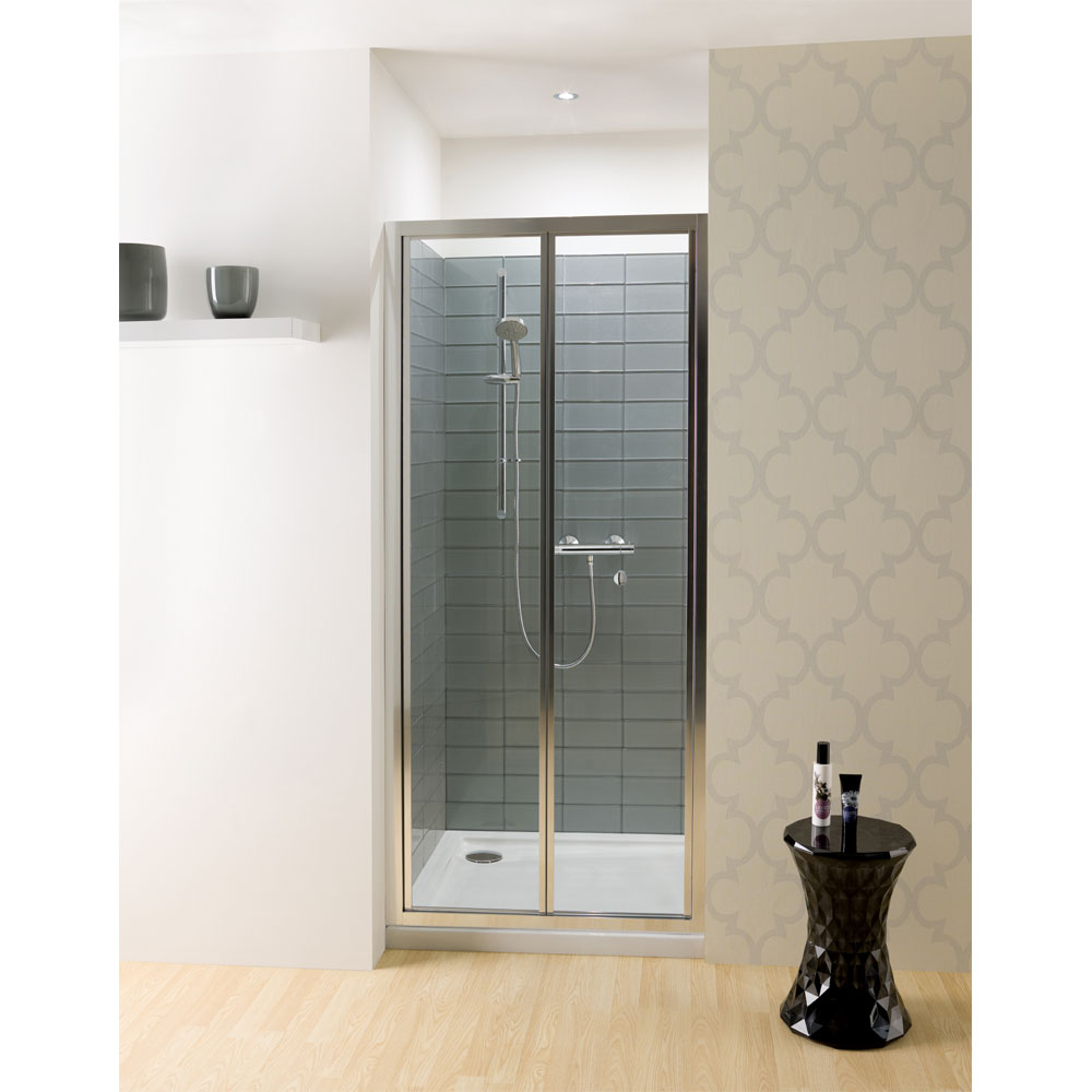 Simpsons - Edge Bifold Shower Door - Various Size Options Large Image