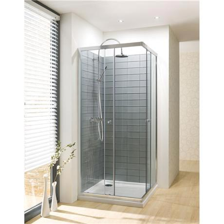 Simpsons - Edge Corner Entry Shower Enclosure - 3 Size Options