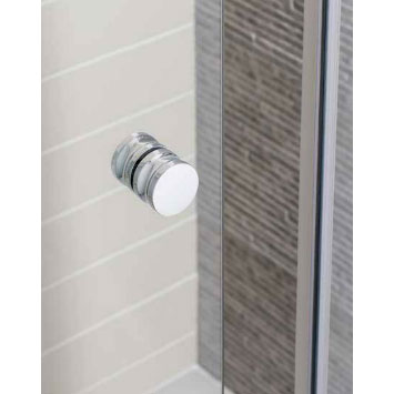 Simpsons - Edge Single Slider Shower Door - Various Size Options Profile Large Image