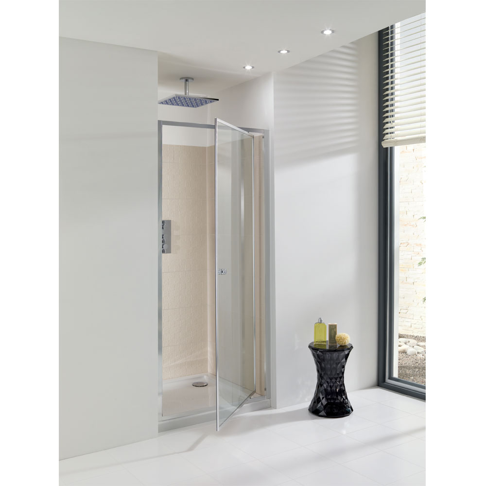 Simpsons - Edge Pivot Shower Door - 5 Size Options profile large image view 1