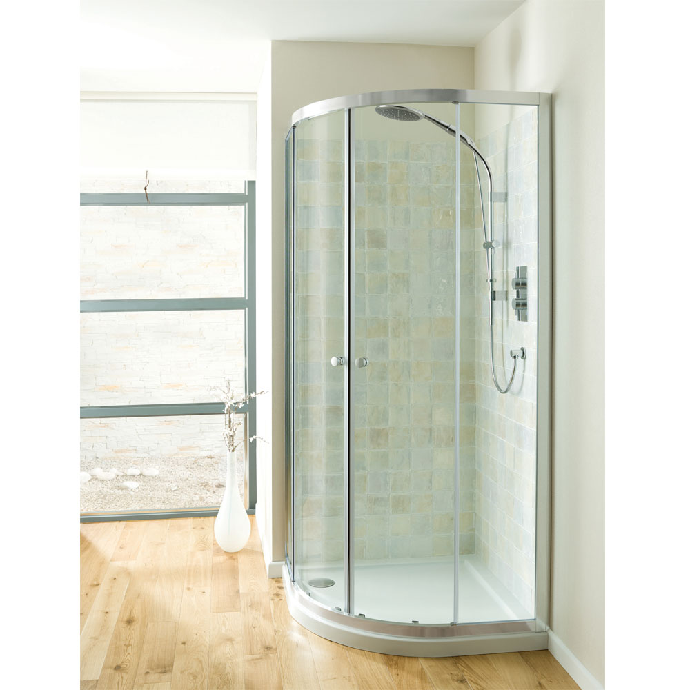 Simpsons - Edge Quadrant Double Door Shower Enclosure - 3 Size Options Large Image