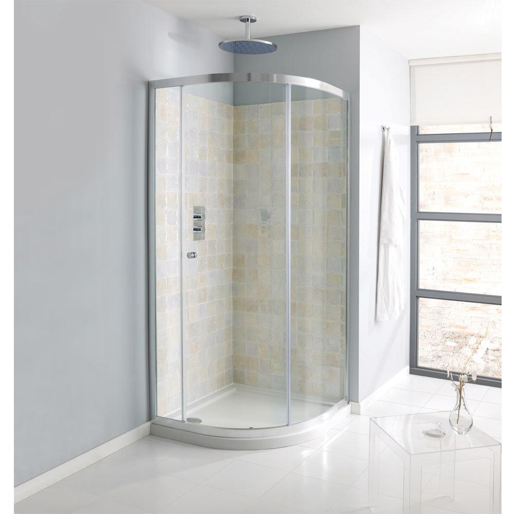 Simpsons - Edge Quadrant Single Door Shower Enclosure - 3 Size Options Large Image