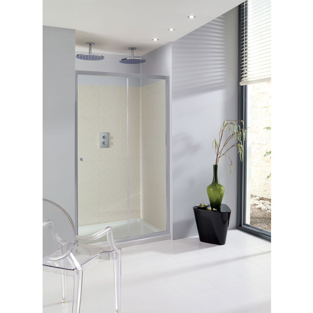Simpsons - Edge Single Slider Shower Door - Various Size Options Large Image