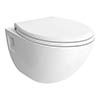 Edmonton Wall Hung Pan + Soft-Close Toilet profile small image view 1