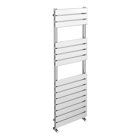Milan Chrome 1500 x 500mm Flat Panel Heated Towel Rail - 15 Sections