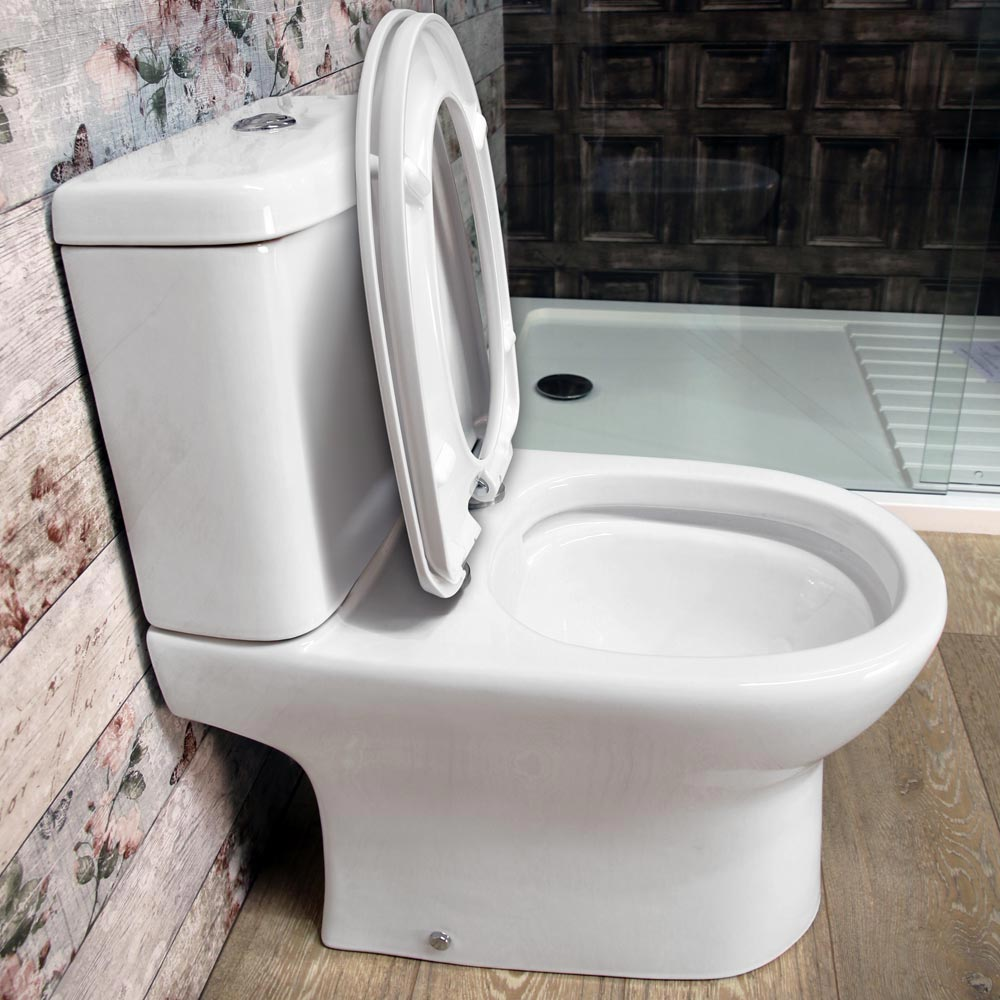 Elite Rimless Close Coupled Toilet + Soft Close Seat profile large image view 3