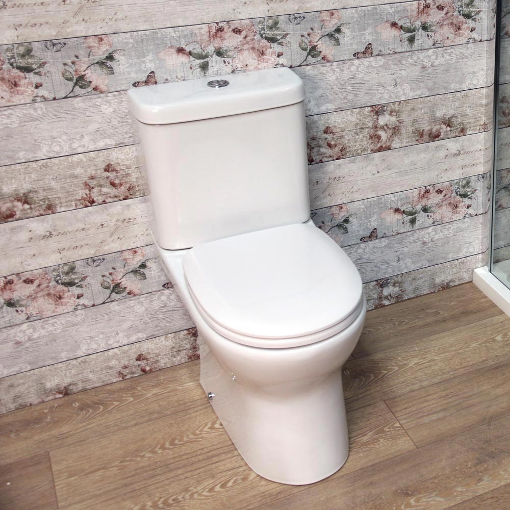 Elite Rimless Close Coupled Toilet + Soft Close Seat profile large image view 4