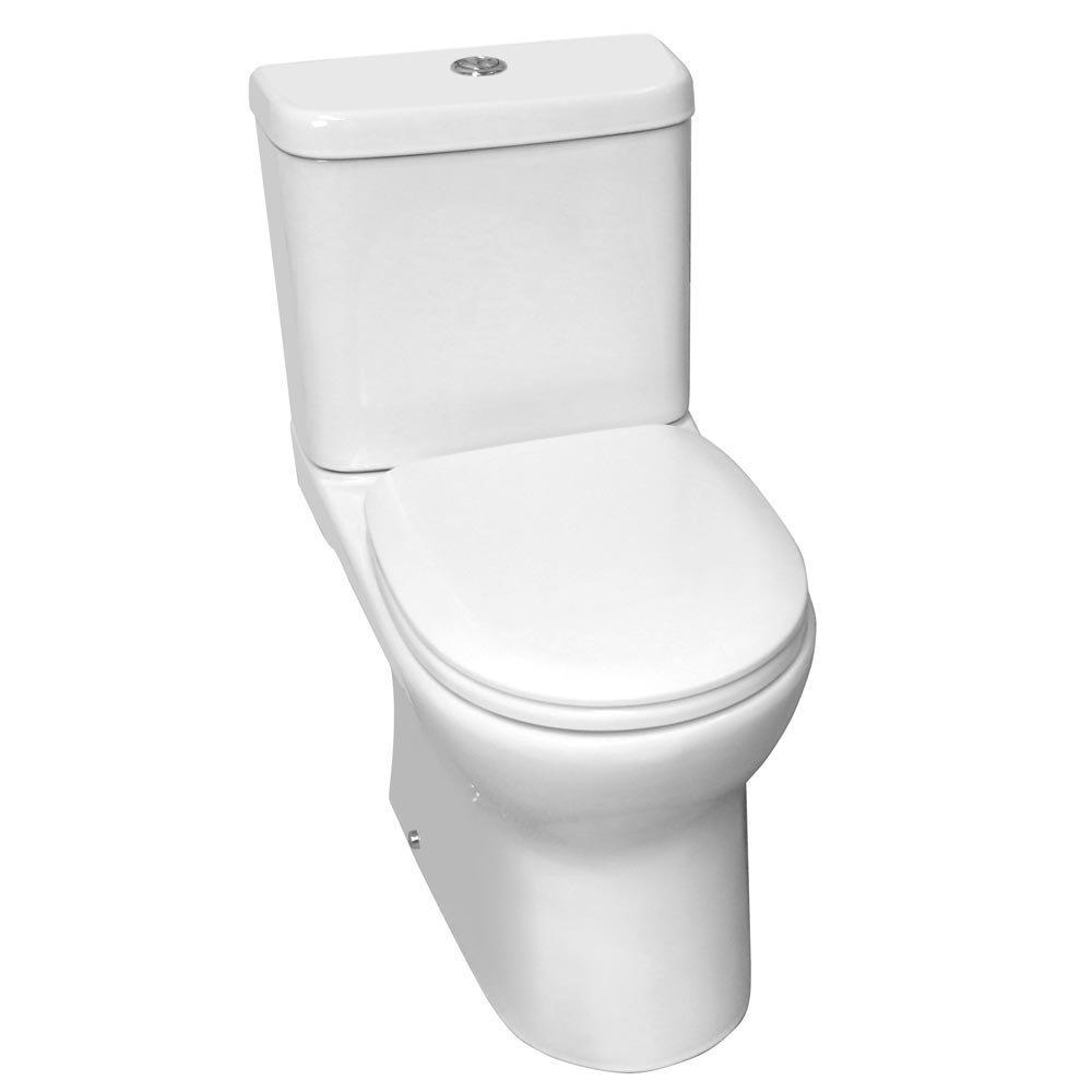 Elite Rimless Close Coupled Toilet + Soft Close Seat Large Image