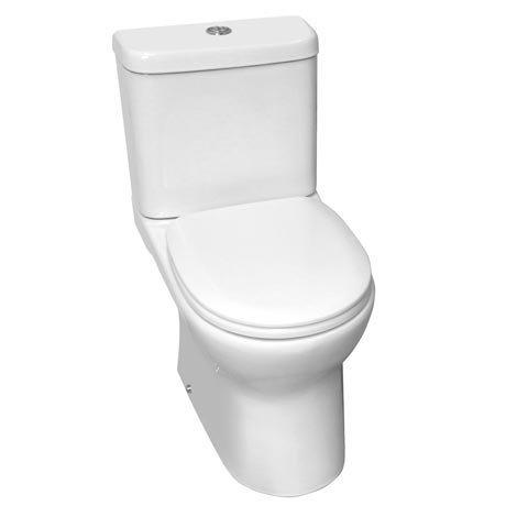 Elite Rimless Close Coupled Toilet + Soft Close Seat
