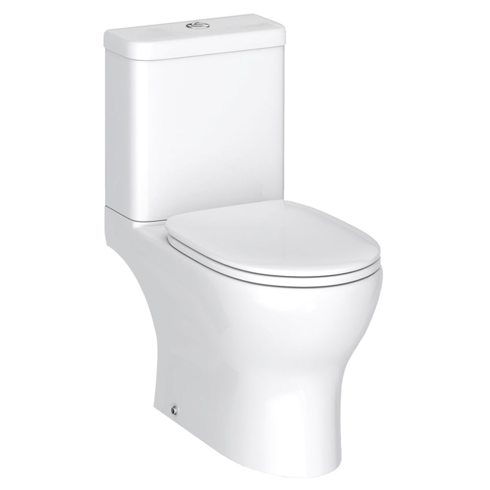 Elite Rimless Close Coupled Toilet + Soft Close Seat profile large image view 1