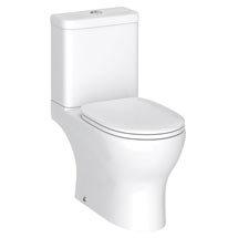 Elite Rimless Close Coupled Toilet + Soft Close Seat Medium Image