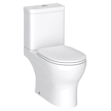 Elite Rimless Close Coupled Toilet + Soft Close Seat